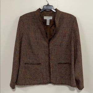 Brown, multi-colored Women's Blazer